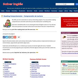 English Reading Comprehension - Textos para aprender o practicar inglés - Comprensión escrita