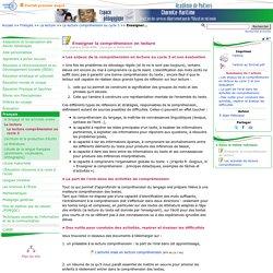 Enseigner la compréhension en lecture - Pédagogie - Direction des services départementaux de l'éducation nationale du 17