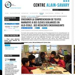 Enseigner la compréhension de textes narratifs à des élèves scolarisés en ULIS-école : des résultats encourageants