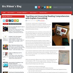 Teaching and Assessing Reading Comprehension (Explain Everything)