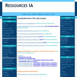 Compréhension fine des textes - Ressources IA
