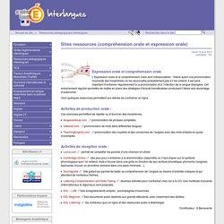 Sites ressources (compréhension orale et expression orale) - Interlangues