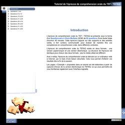 Tutoriel de l'épreuve de compréhension orale du TEF / TEFAQ - Introduction