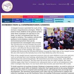 Comprehension Lessons