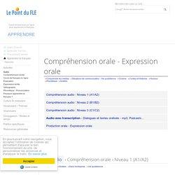 Oral - Compréhension audio - Expression orale - French Listening Comprehension - Dialogues FLE - Ressources de français langue étrangère
