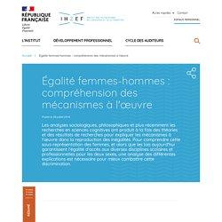 Égalité femmes-hommes : compréhension des mécanismes à l'œuvre