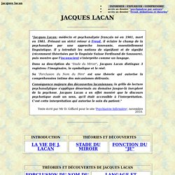 Actualit articles1 jacques lacan pearltrees for Miroir psychanalyse