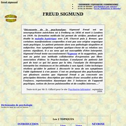 freud sigmund definition theorie explication soin therapie pathologie comprehension psychanalyse