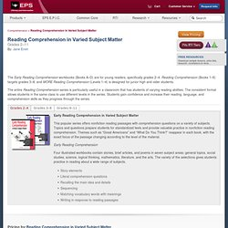 SS—LI » Comprehension » Reading Comprehension in Varied Subject Matter