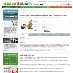 Digging Deeper: Developing Comprehension Using Thank You, Mr. Falker