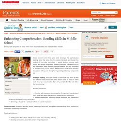 Enhancing Comprehension: Reading Skills in Middle School