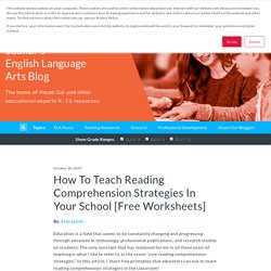How To Teach Reading Comprehension Strategies In Your School