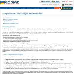 K-8 Comprehension Skills, Strategies, Activities & Exercises - Benchmark Education Storefront