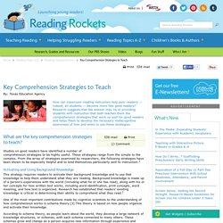 Key Comprehension Strategies to Teach
