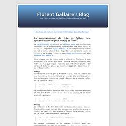 La compréhension de liste en Python, une syntaxe moderne pour map() et filter()