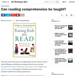 Can reading comprehension be taught?