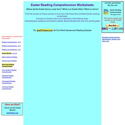 Easter Reading Comprehension Worksheet - free printable worksheet