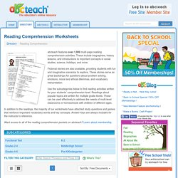 Reading Comprehension - Printables & Worksheets
