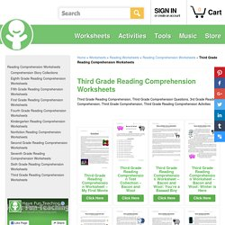 Third Grade Reading Comprehension Worksheets""