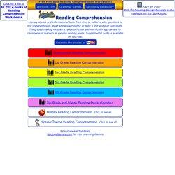 Reading Comprehension Worksheets - Free Printable Grade Level Worksheets