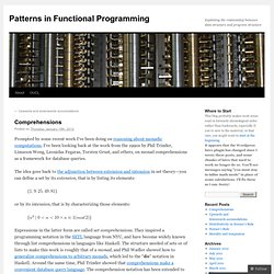Patterns in Functional Programming