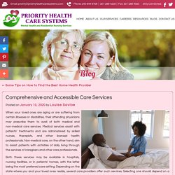 Comprehensive and Accessible Care Services