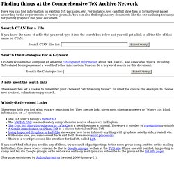 Search the Comprehensive TeX Archive Network