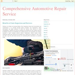 Benefits of Auto Inspection and Services