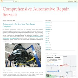 Comprehensive Services from Auto Repair Companies
