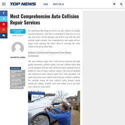 Most Comprehensive Auto Collision Repair Services – Magnetoz