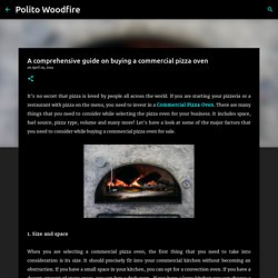 A comprehensive guide on buying a Commercial Pizza Oven - Polito Woodfire