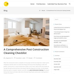 A Comprehensive Post Construction Cleaning Checklist