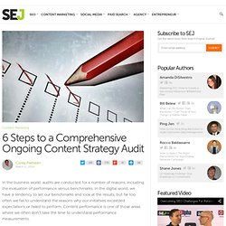 6 Steps to a Comprehensive Content Strategy Audit