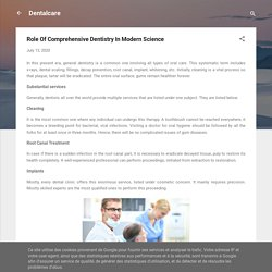 Role Of Comprehensive Dentistry In Modern Science