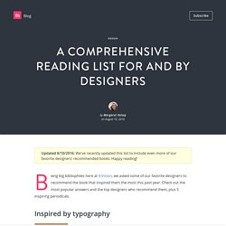 A comprehensive reading list for and by designers - InVision Blog