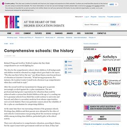 comprehensive schools: the history