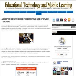 A Comprehensive Guide for Effective Use of iPad in Teaching