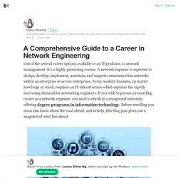 A Comprehensive Guide to a Career in Network Engineering