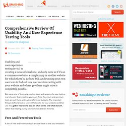 Comprehensive Review Of Usability And User Experience Testing Tools