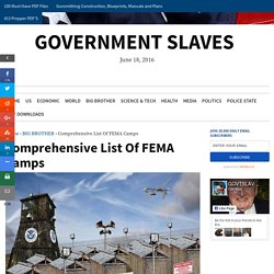 Comprehensive List Of FEMA Camps