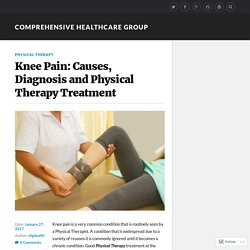 Knee Pain: Causes, Diagnosis and Physical Therapy Treatment – Comprehensive Healthcare Group