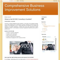 Where to Get ISO 9001 Consulting in Australia?