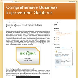 Improving a Process through the Lean Six Sigma Management