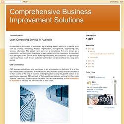 Lean Consulting Service in Australia