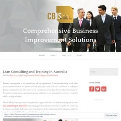 Lean Consulting and Training in Australia