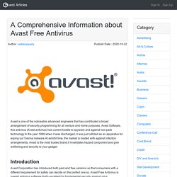 A Comprehensive Information about Avast Free Antivirus