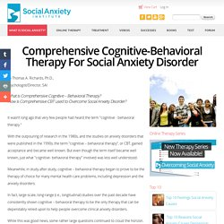 Comprehensive CBT for Social Anxiety