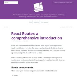 React Router: a comprehensive introduction