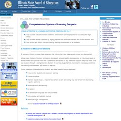 ISBE Comprehensive System of Learning Supports - Children of Military Families Page