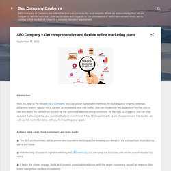 SEO Company – Get comprehensive and flexible online marketing plans